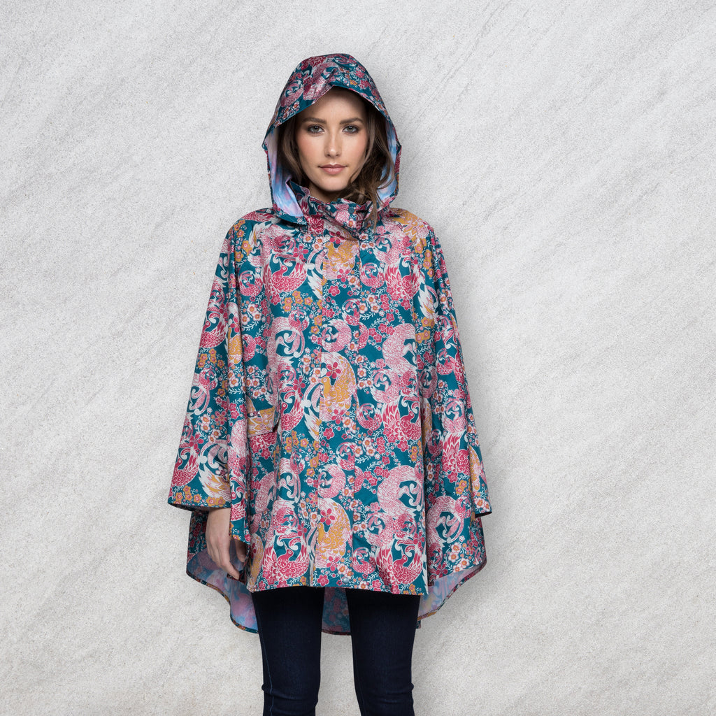 November Rain Poncho, Oriental Bird