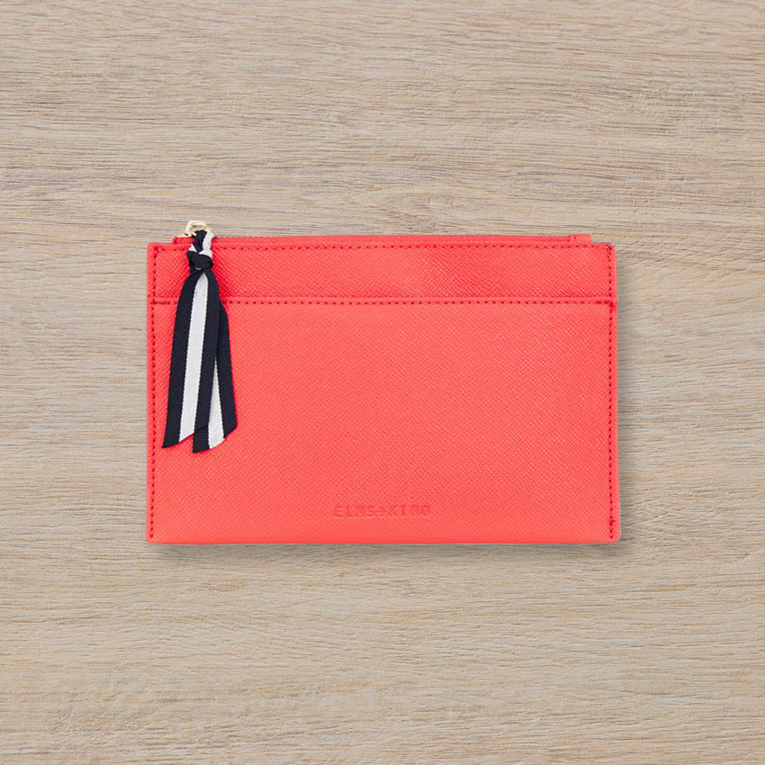 Elms + King New York Coin Purse, Camelia Red