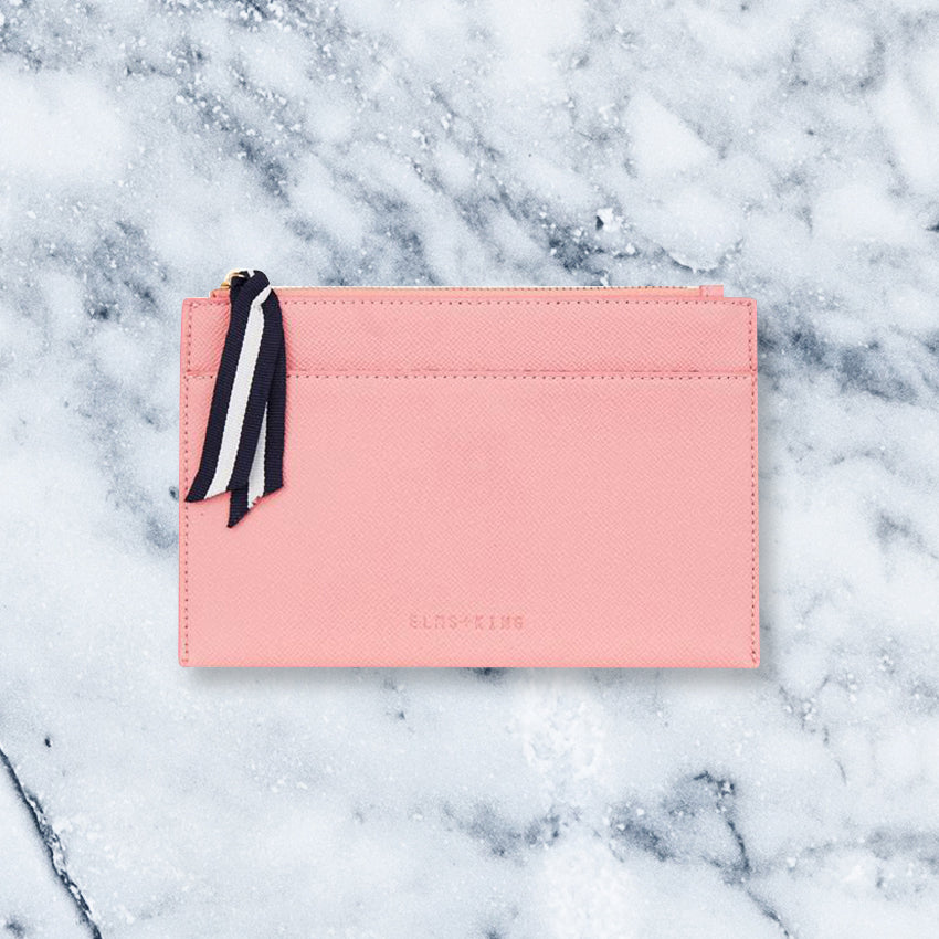 Elms + King New York Coin Purse, Carnation Pink