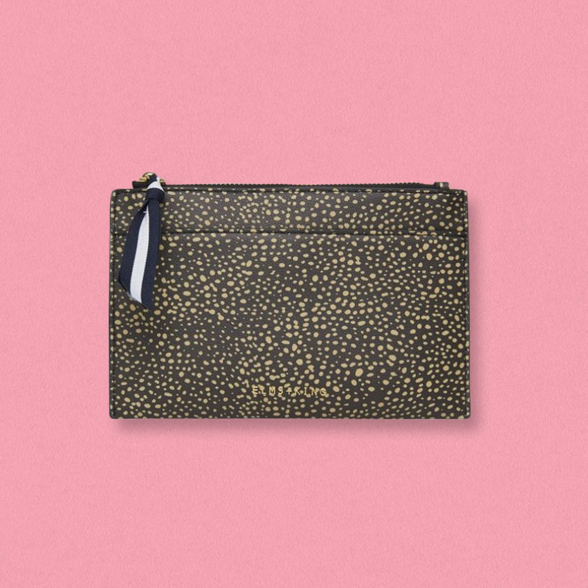 Elms + King New York Coin Purse, Dark Cheetah