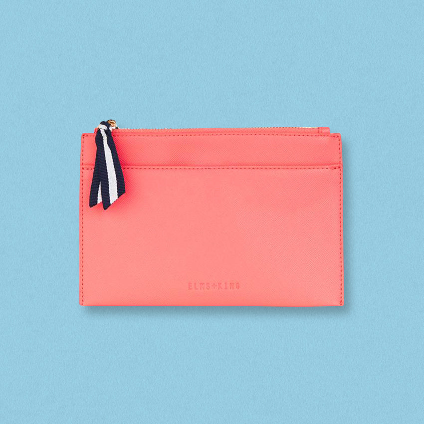 Elms + King New York Coin Purse, Flamingo