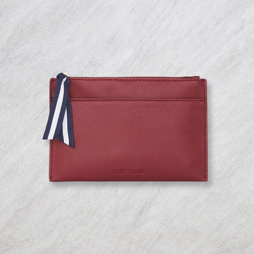 Elms + King New York Coin Purse, Maroon