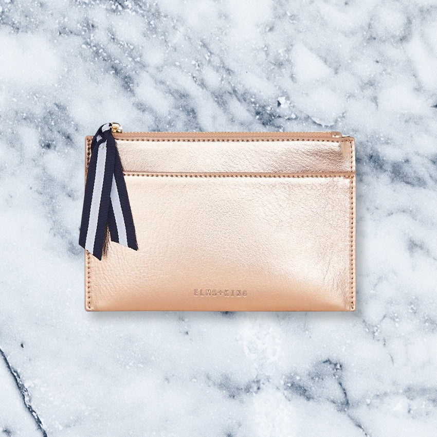 Elms + King New York Coin Purse, Rose Gold