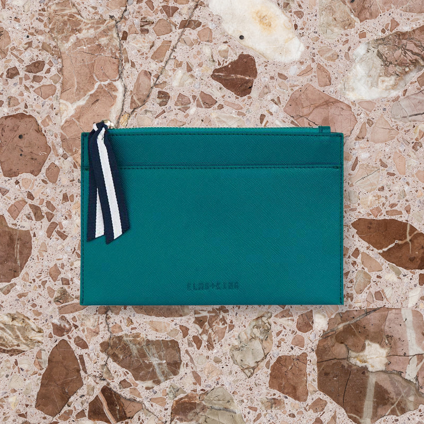 Elms + King New York Coin Purse, Teal