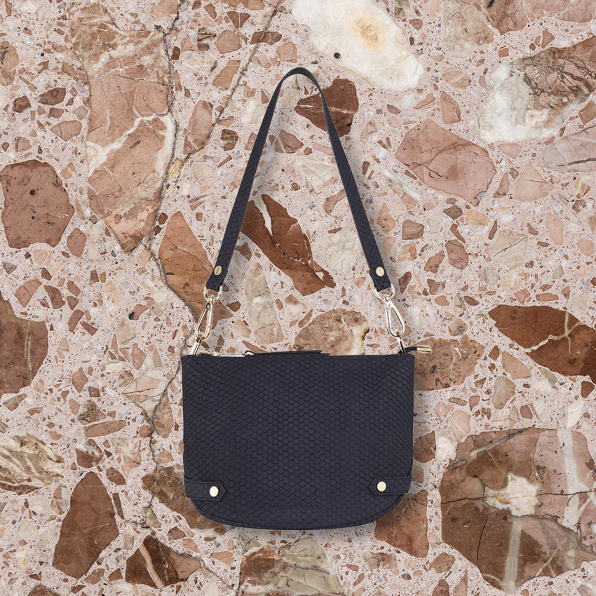 Arlington Milne Olivia Crossbody, Navy Scales