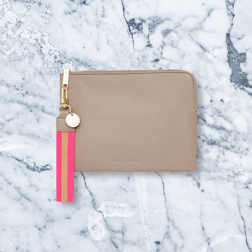 Arlington Milne Paige Clutch, Putty