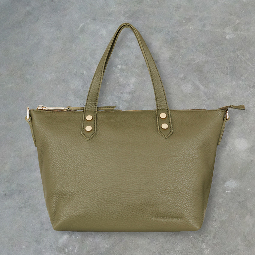 Arlington Milne Paige Soft Tote Small, Olive