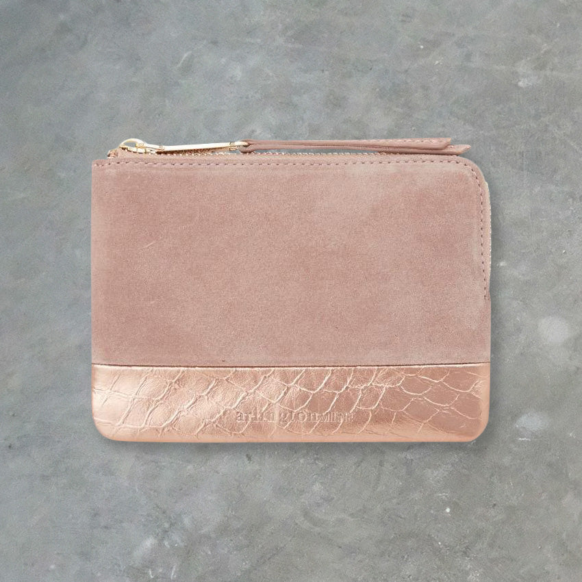 Arlington Milne Lou Lou Coin Purse, Fawn & Rose Gold