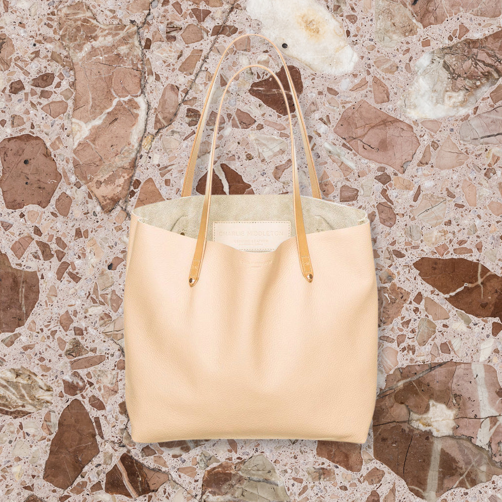 Charlie Middleton Bespoke Tote, Nude with Rose Gold Hardware