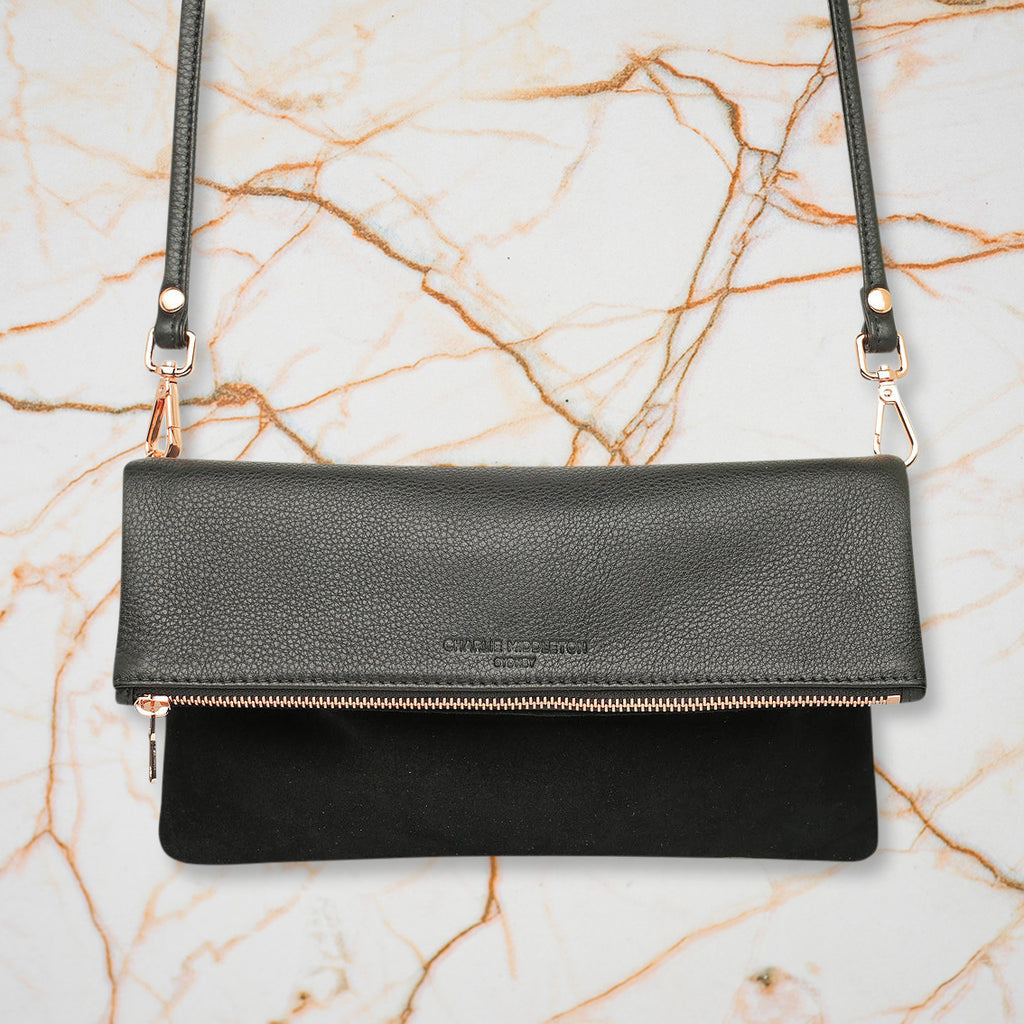 Charlie Middleton Weekend Clutch, Black Two Tone