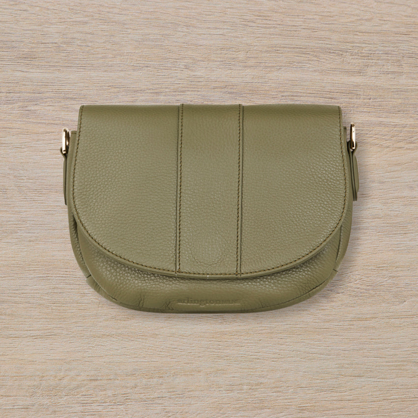 Arlington Milne Zara Saddle Bag, Olive