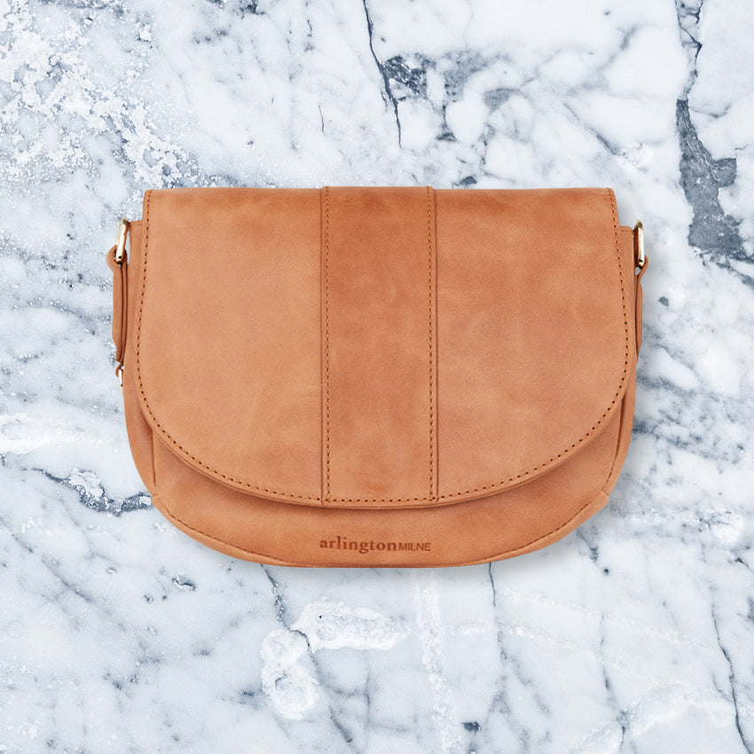 Arlington Milne Zara Saddle Bag, Vintage Tan