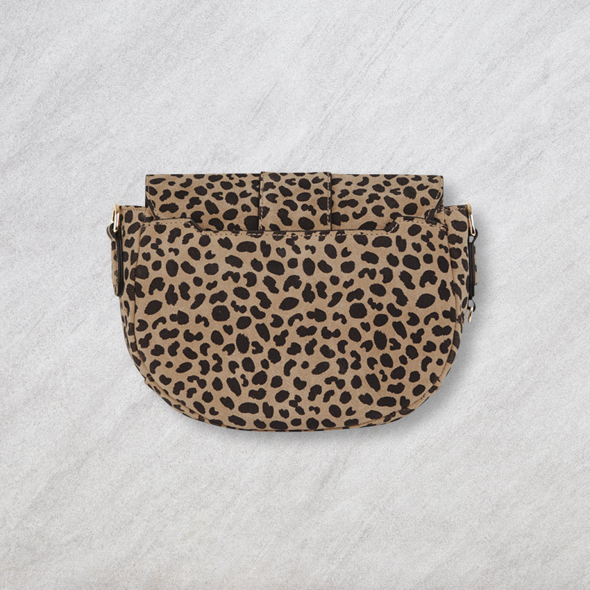 Arlington Milne Zara Saddle Bag, Spot Suede