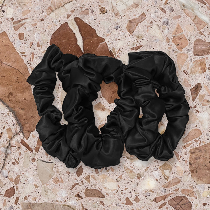 Slip Silk Scrunchies, Black