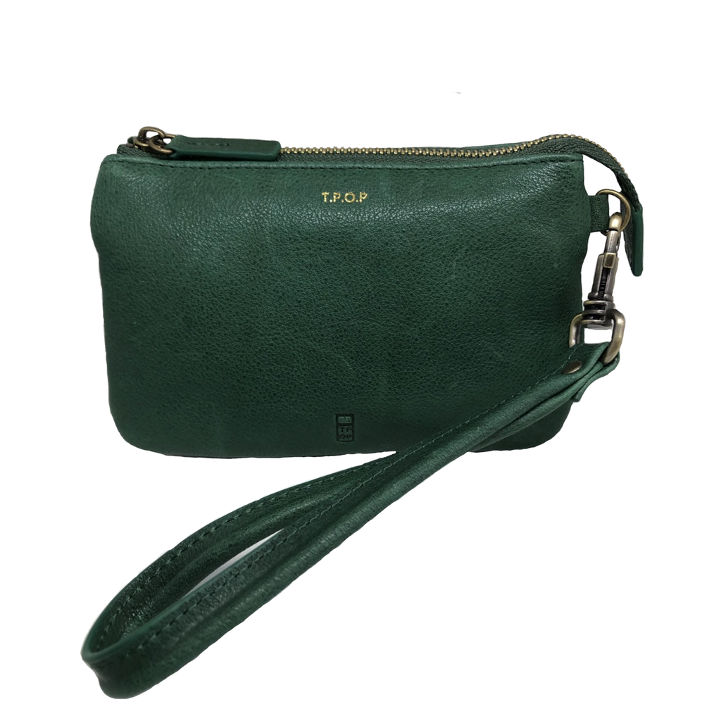 The Pick of Pieces Newquay Wallet, Dark Green
