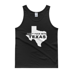 Don't Fuck With Texas White Print Tank top