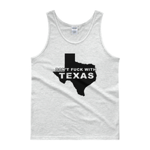 Don't Fuck With Texas Black Print Tank top