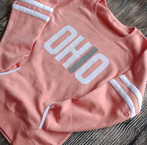 Ladies Rose Ohio Varsity Fleece Crew