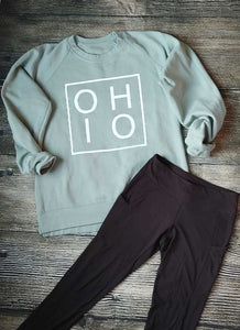 Ladies Greenstone Boxed Ohio Fleece Crew