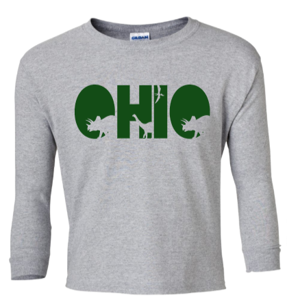 Youth Dinosaur Ohio Long Sleeve Tee