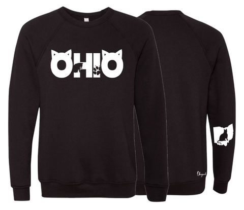 Unisex Cat Ohio Black Fleece Crew