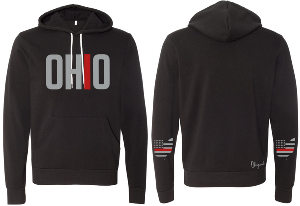Ohriginal Ohio Firefighter Fleece Hooded Pullover