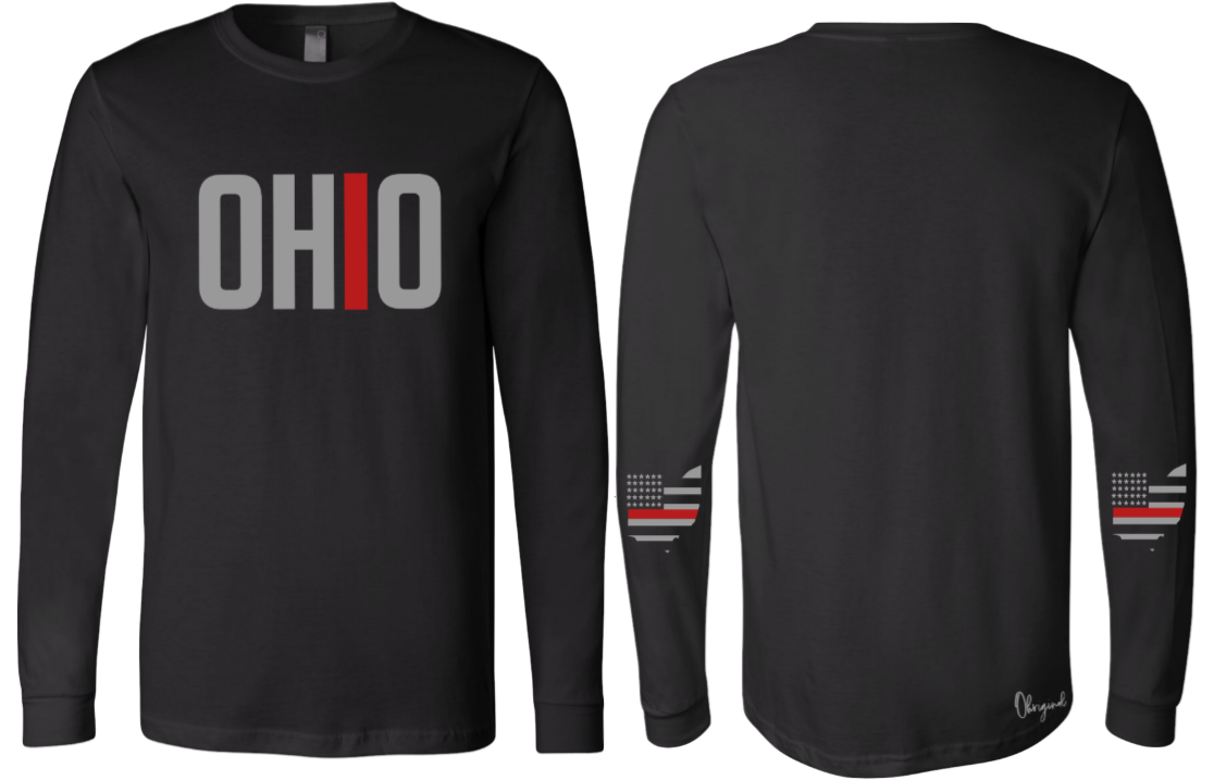 Ohriginal Ohio Firefighter  Line Long Sleeve