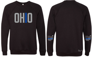 Ohriginal Ohio Law Enforcement Line Fleece Crew