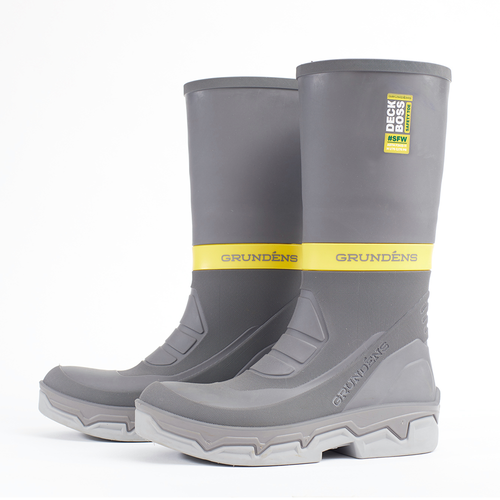 Grundens Deck-Boss Safety Toe Boot Grey