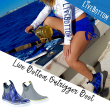 "Live Bottom Outrigger Grey 6"" Neoprene Deck Boot"