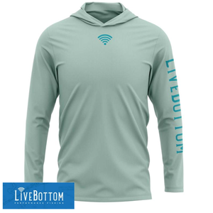Live Bottom Solar Hoodie- Sea Foam