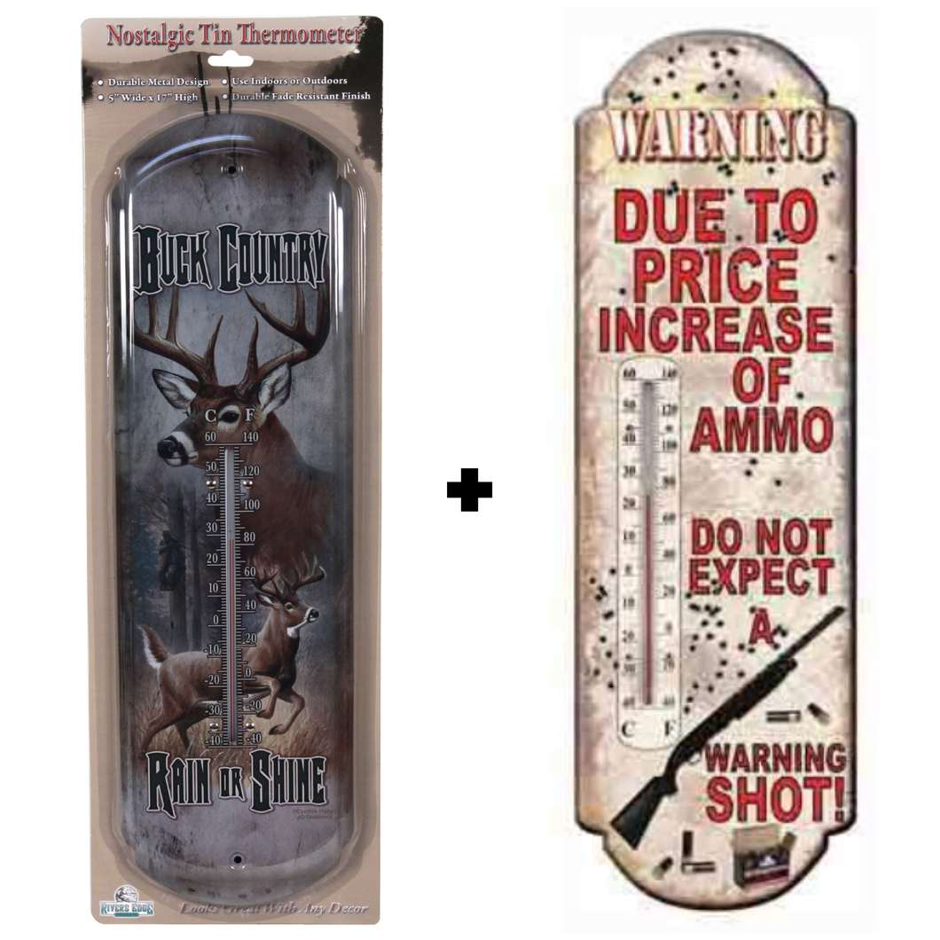 River's Edge Tin Thermometer Combo Pack