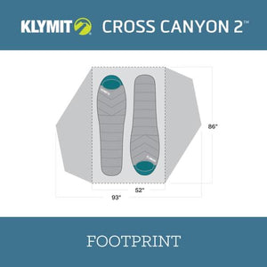 Klymit Cross Canyon 2 Tent - Red/Grey