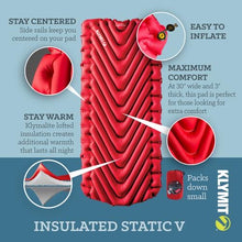 Klymit Insulated Static V Luxe - Red