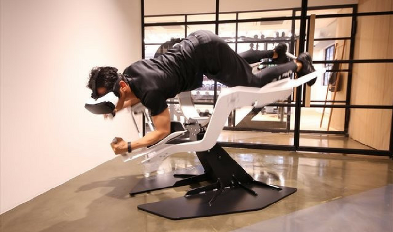 Icaros is a Superman-style workout which combines exercise with VR gaming.