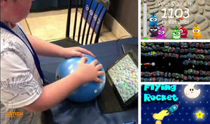 Autism Help with PlayBall Smart Therapy and Fitness Game Ball.