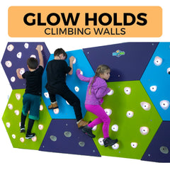GlowHolds, Interactive Climbing Wall, Traverse Wall, Climbing Fitness Games