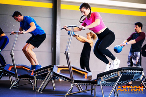group trampoline fitness