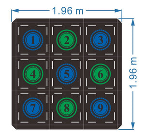 C4 Fitness Tile - Floor Grid