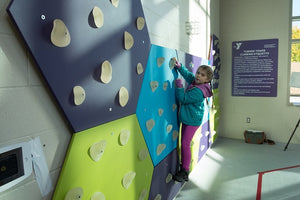Glow Holds Interactive Climbing
