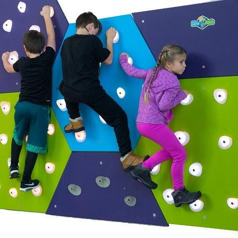 Glow Holds Interactive Climbing Panels
