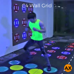 C4 Interactive Fitness Tile Wall