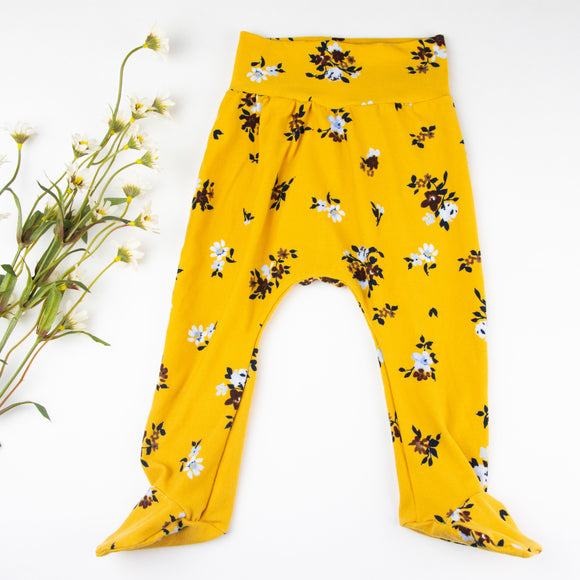 Yellow Floral Leggings