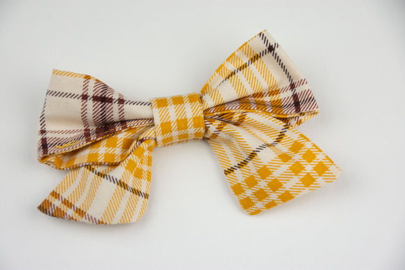 Pinafore Plaid Bow