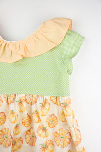 Ruffle Collar Pumpkin Dress