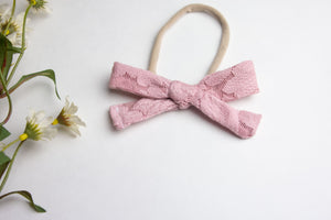 Pink Lace Bow