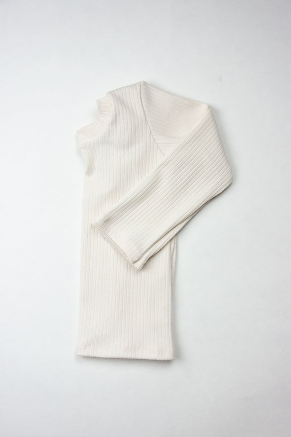 Cream or Black Ribbed Long Sleeve Top