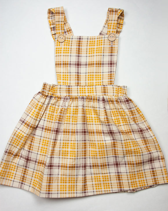 Fall Plaid Pinafore
