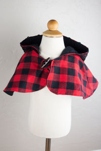 Red and Black Buffalo Plaid Capelet