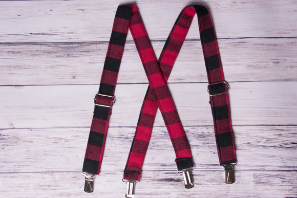 Buffalo Plaid Suspenders